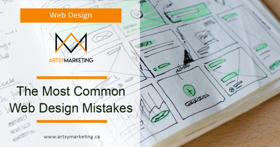 Artsy Marketing - The Most Common Web Design Mistakes